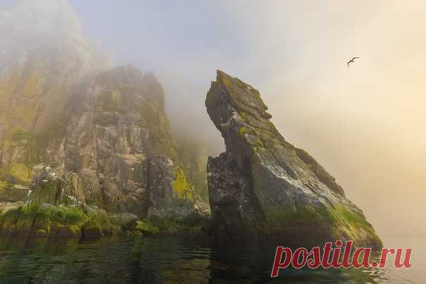 Скалы Матыкиля. Ямские острова, Охотское море. Автор фото – Кирилл Уютнов: nat-geo.ru/photo/user/37684/