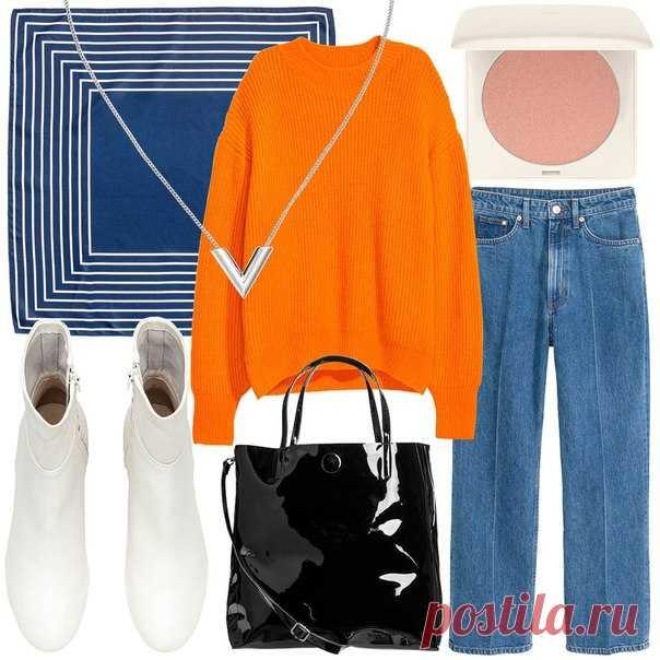 Палитра актуальных синих, оранжевых и бежевых оттенков, лакированная кожа и стильный деним - добавьте в свой осенний гардероб наши модные новинки этой недели! #HMMagazine #HMFavourites