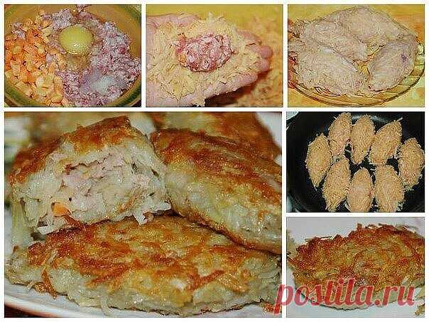 Kартофельные зразы с мясным фаршем!