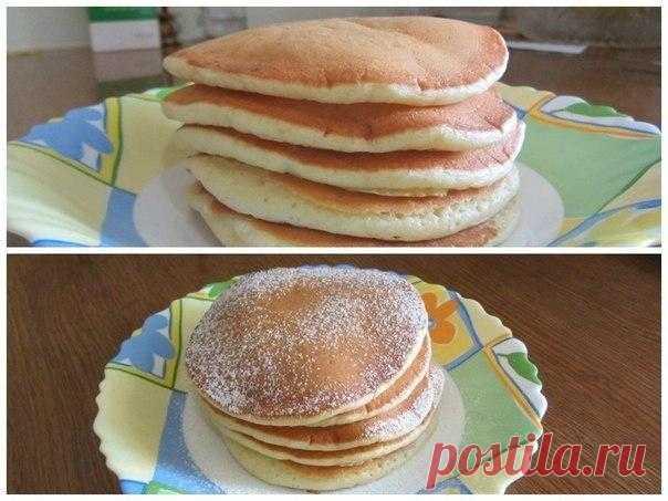 Мягкие, пышные панкейки! Очень нежные и вкусные!        1. Взбить венчиком в тарелке 2 яйца и поставить на водяную баню их подогреться,чтоб сахар (3 ст.ложки) лучше растворился. После это взбить миксером до белой густой пены!2. Добавить туда 2 ст по…