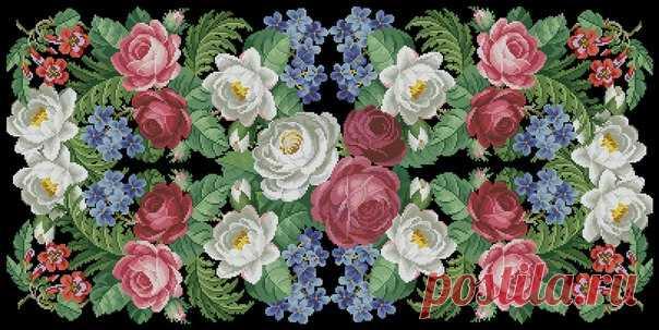 Вышивка красивые цветы на черной канве. Вышивка на черной канве схемы | Домоводство для всей семьи.
