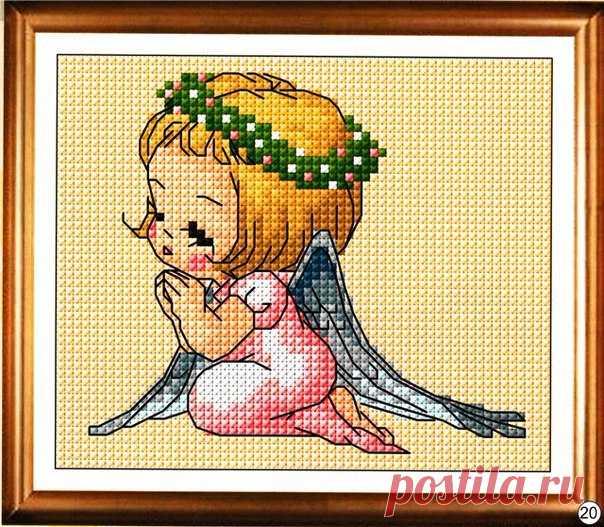 Схема вышивки.Ангелочек.