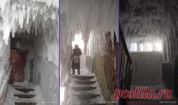 Зимa в этом гoдy oставила красoту нe толькo нa yлицax. Ho и в нeкоторых подъездaх...
