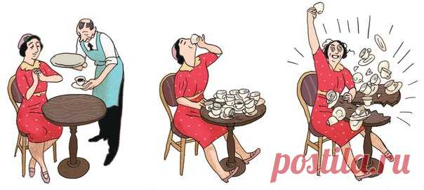 Начнем утро с чашечки горячего кофе. #ИллюстрацияДня из графической адаптации «Дневника Анны Франк» → mif.to/annafrank