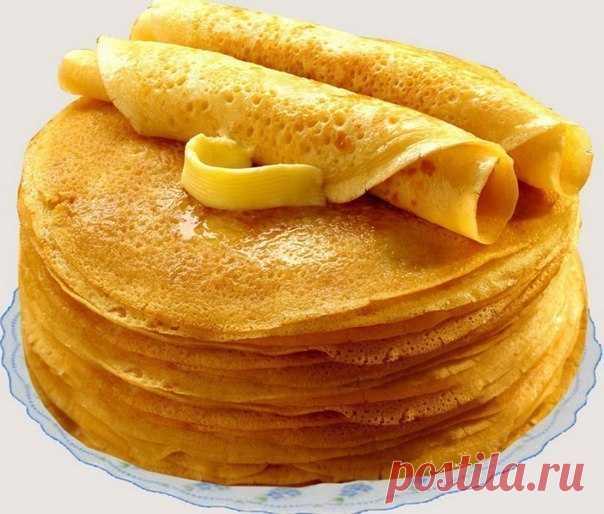 Блины «Безупречные». Получатся даже у новичков!  Ингредиенты:кипяток — 1,5 стакана;молоко — 1,5 стакана;яйца — 2 штуки;мука — 1,5 стакана (тесто должно быть реже, чем на оладьи);сливочное масло — 1,5 столовые ложки;сахарный песок — 1,5 столовые лож…
