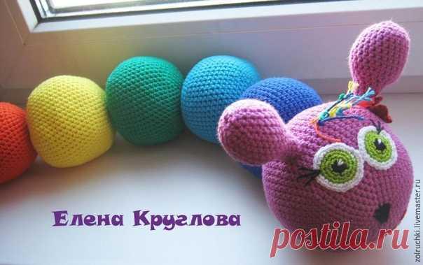 Вяжем крючком развивающую игрушку. Схема вязания  #вязание_крючком  #вязание_детям  Автор МК: Елена Круглова