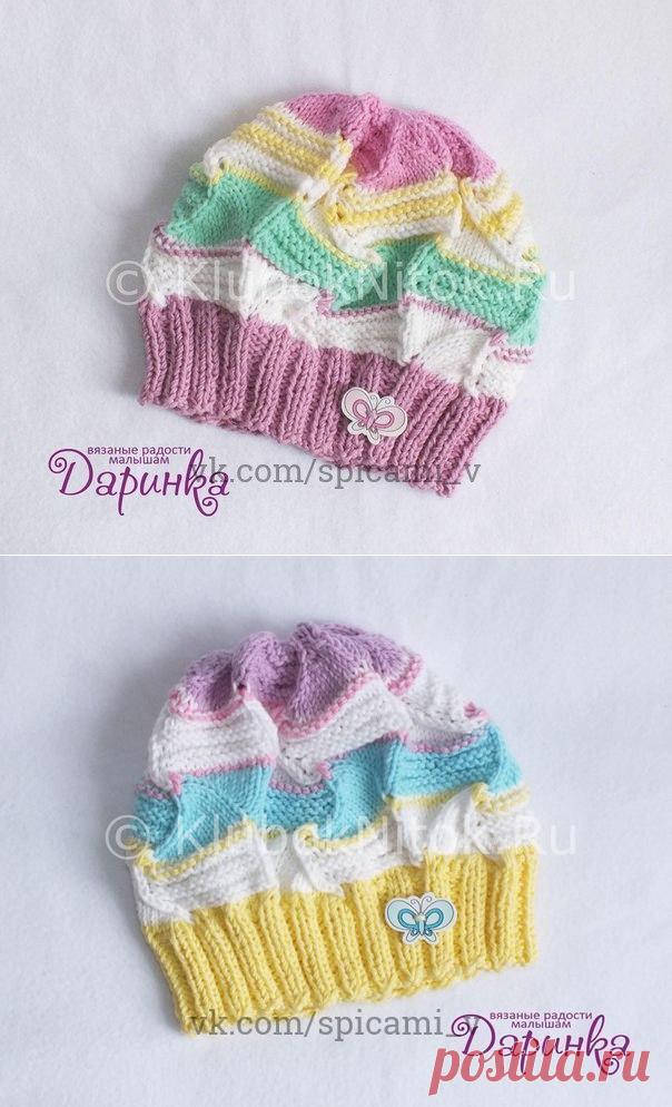 Красивая и нежная шапочка для малышей и не только — Сделай сам, идеи для творчества - DIY Ideas