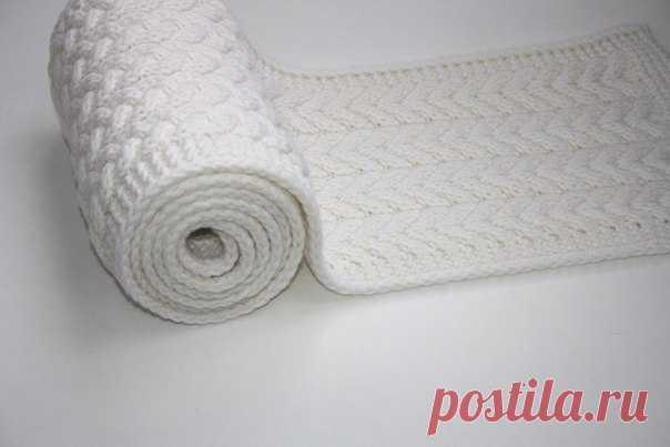 Способ вязания края в шарфах и пледах