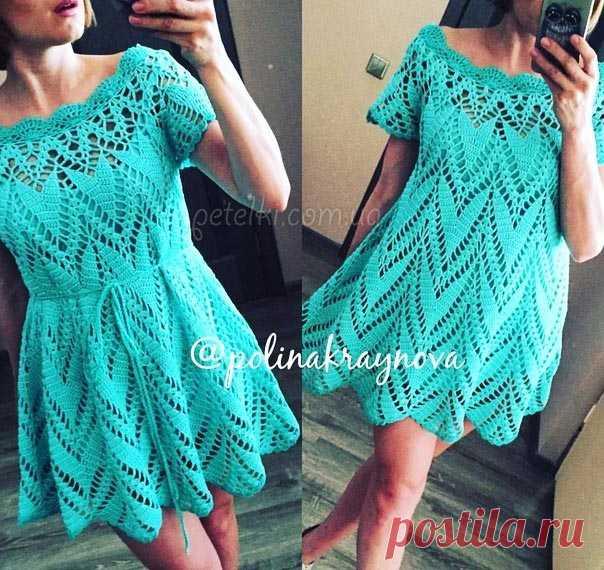 платье туника полины крайновой как вязать туники платье