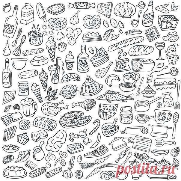 бесплатно раскраски еда продукты распечатать 1   Рисовака ...
