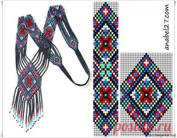 Схемы герданов для бисерного ткачества  #бижутерия #украшения #герданы @vrukodelii