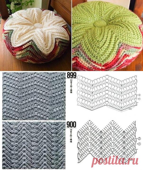 красивая двусторонняя подушка крючком вязание крючком подушки схемы
