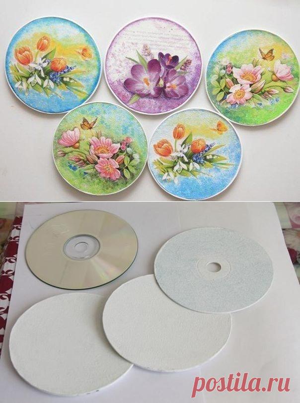 Открытки и поделки из дисков, свинки картинках красивые
