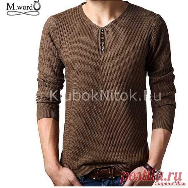 Пуловер спицами для любимого мужчины - Вязание - Страна Мам