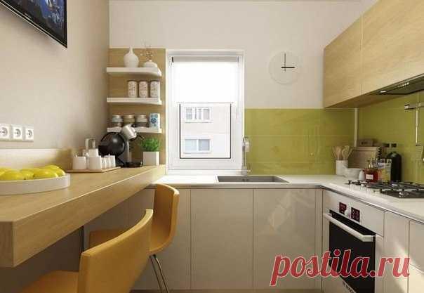 Как оформить маленькую кухню: 6 кв.м в Бухаресте