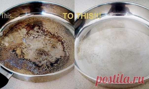 Если у вас подгорела сковорода