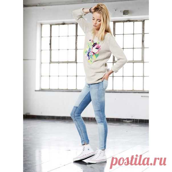 женский вязаный свитер с вышитыми цветами вязаный свитер для женщин