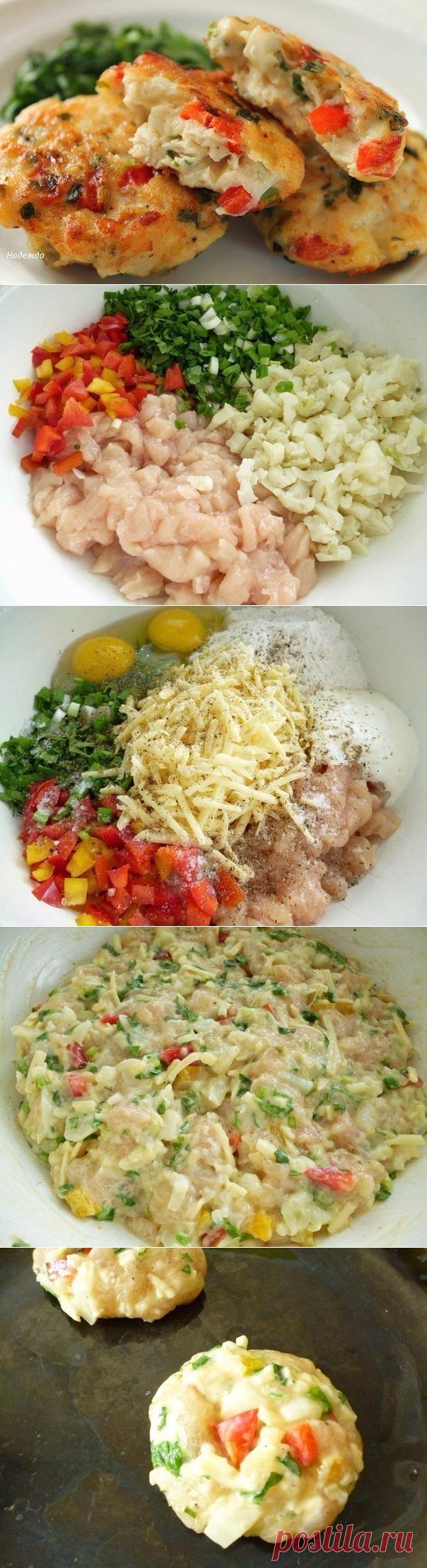 Добавьте в фарш цветную капусту, болгарский перец, сыр и яйца… Идеально! - Кулинария, красота, лайфхаки