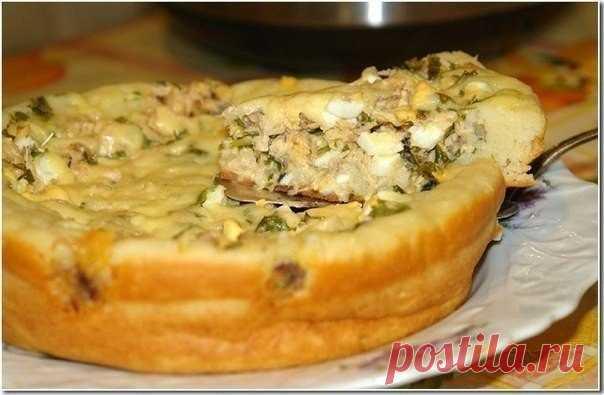 Быстрый пирог из рыбы: готовится элементарно просто и быстро!