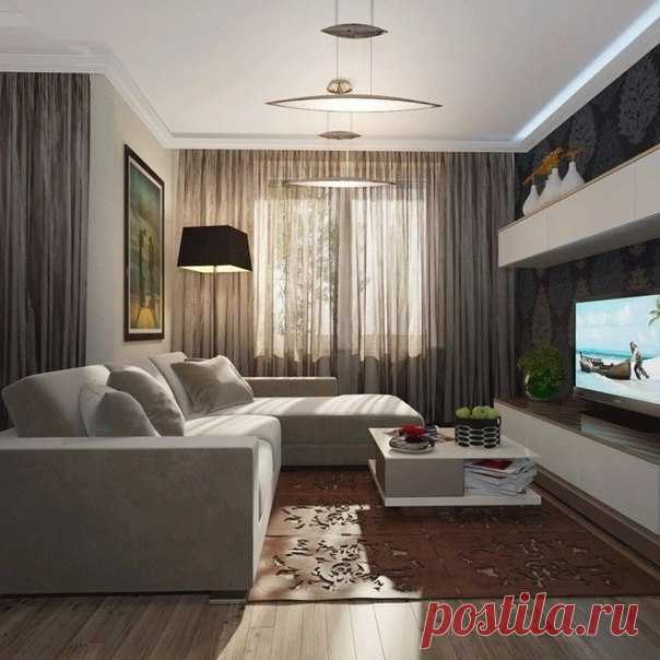 Интерьер гостиной для комнаты 16 кв метров
