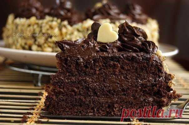 Шоколадный торт по госту  Сладкое чудо    Ингредиенты:   Показать полностью…