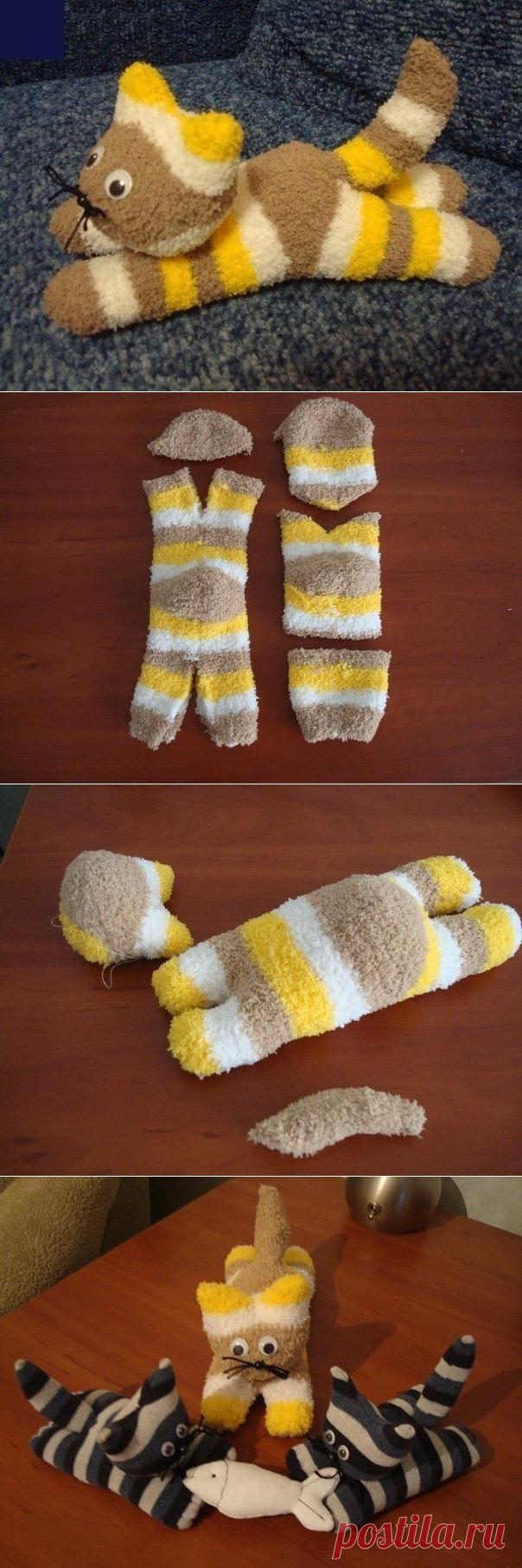 Милые игрушки из носков