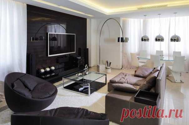 Стильный дизайн гостиной, хотели бы себе такой?