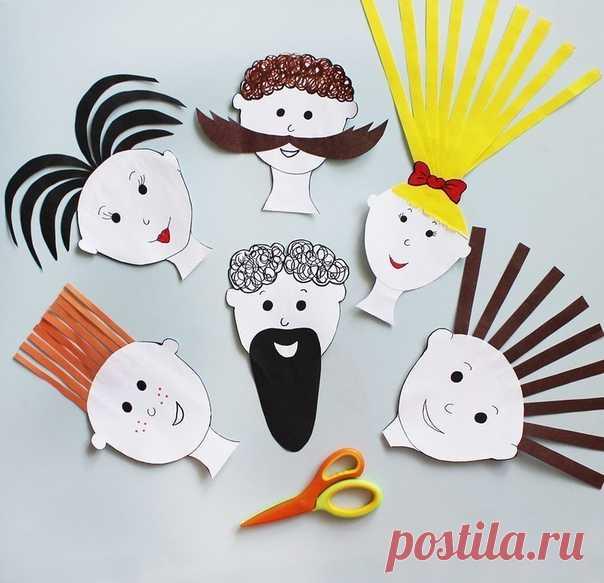 Парикмахерская. учимся пользоваться ножницами — Поделки с детьми