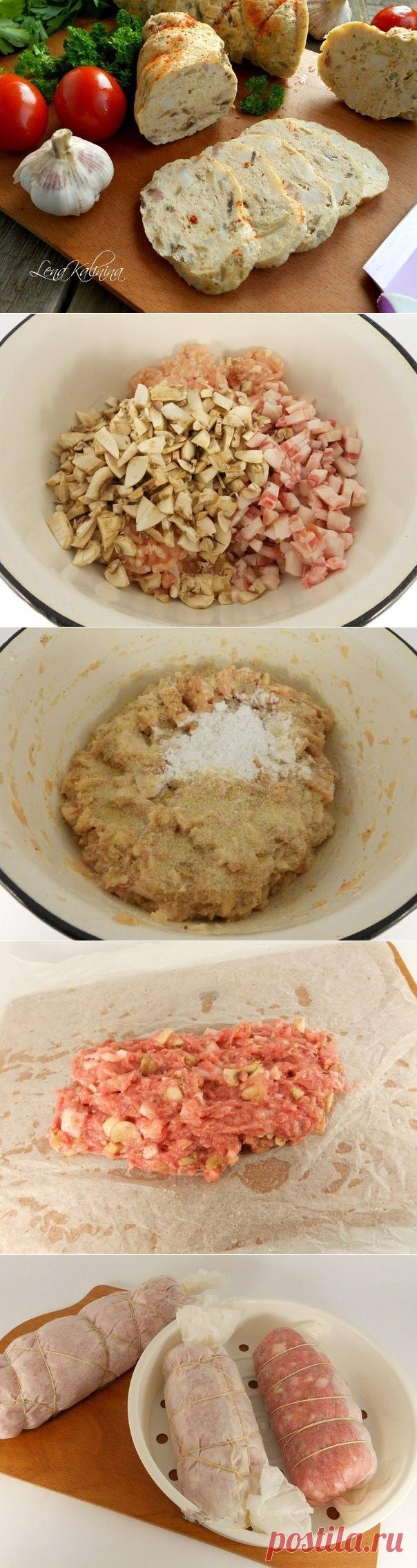 Как приготовить курицу колбасу в домашних условиях