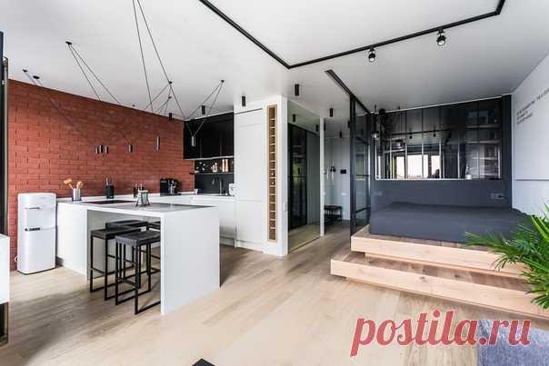 Дизайн и ремонт квартиры в стиле лофт 50 кв. м от студии Icon
