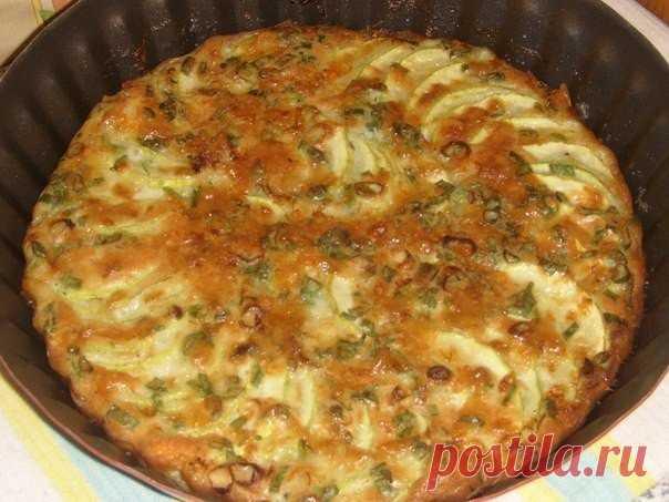 Запеканка из кабачков с зеленым луком — блюдо совершенно простое и невероятно вкусное! Нарезаем, укладываем и через 25 минут Вы богиня!