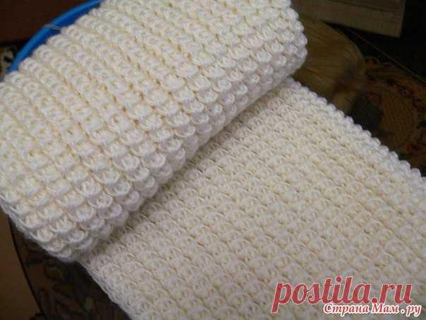 американская резинка шарф связала американской резинкой количеств