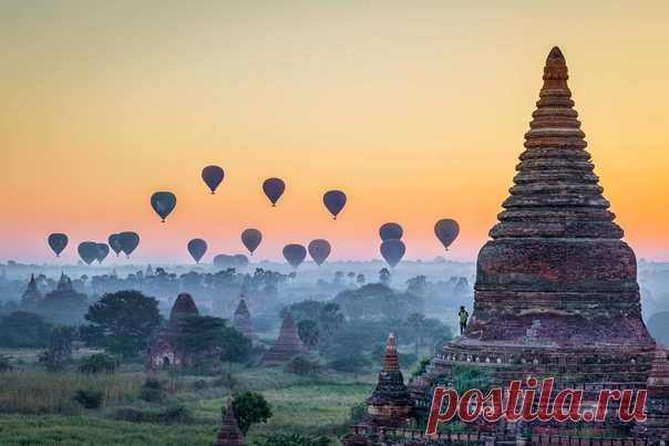 Сказочный рассвет в Мьянме. Автор фото – Максим Логунов: nat-geo.ru/photo/user/340999/ Радостного вам утра!
