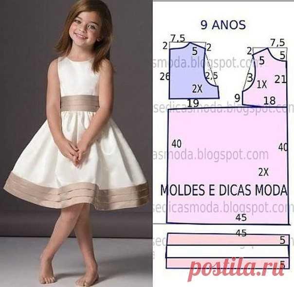 a5a44365e50 Выкройки платьев для девочек 8-9 лет (Шитье и крой)