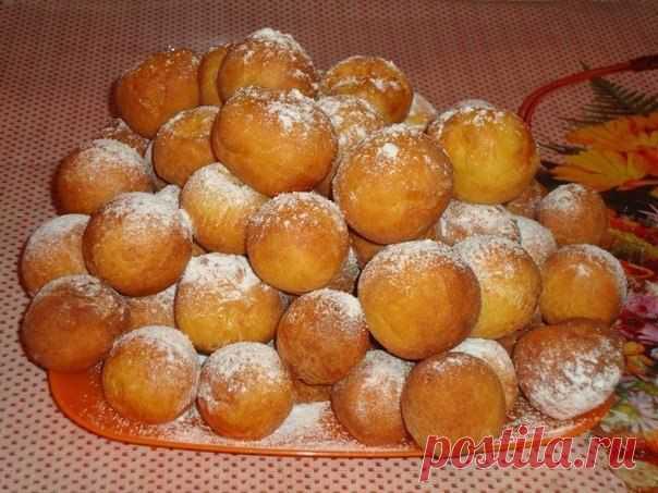 Пончики из творога..