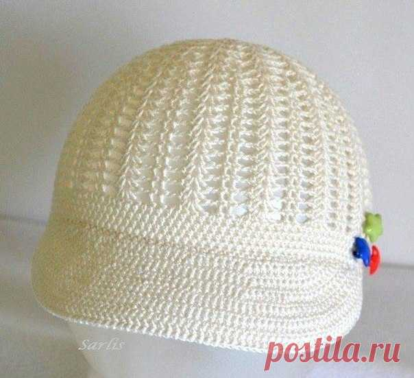 Summer cap (Knitting by a hook)   Inspiration of the Needlewoman Magazine