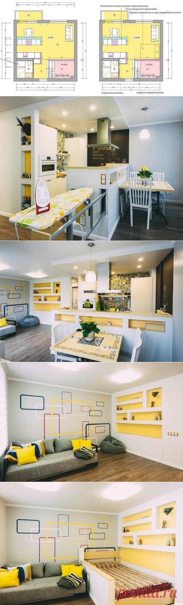 Квартира в 33 кв.м. - Дизайн интерьеров | Идеи вашего дома | Lodgers