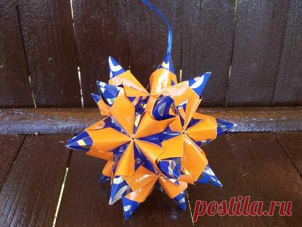 Кусудама Торнилло - очень красивая объемная звезда и увлекательный процесс ее сборки https://www.youtube.com/watch?v=ZJM7oUAea3I