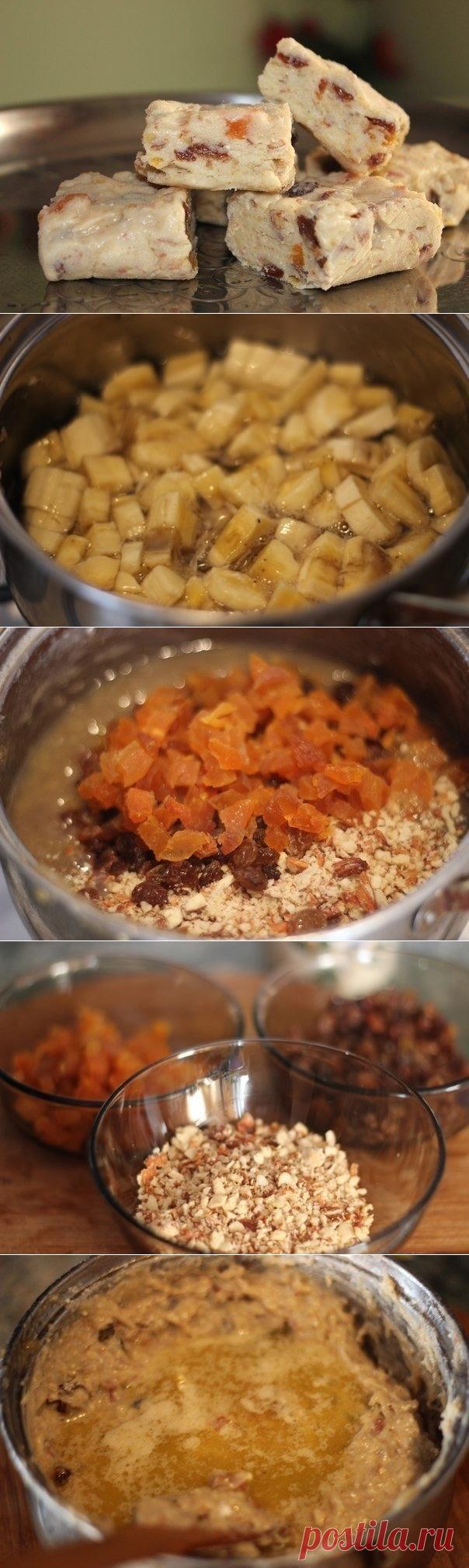 Пирог с орехами и сухофруктами рецепт