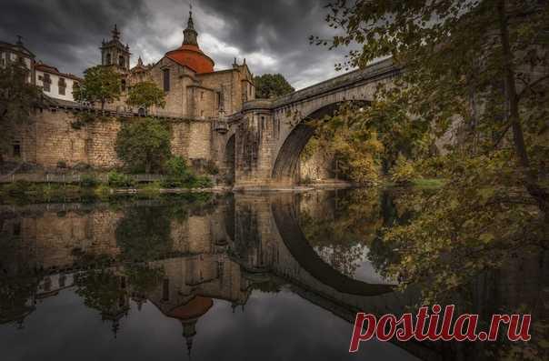 Вечер в Амаранте, Португалия. Автор фото – АБ: nat-geo.ru/community/user/185902/