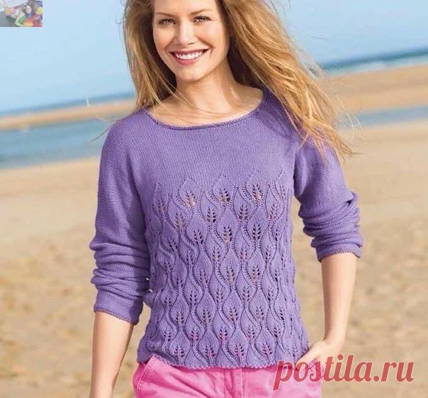 Женские вязаные джемперы и пуловеры спицами. | Волшебные спицы | Яндекс Дзен