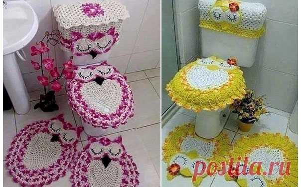 коврик сова для ванной схема для любителей совушек комплект