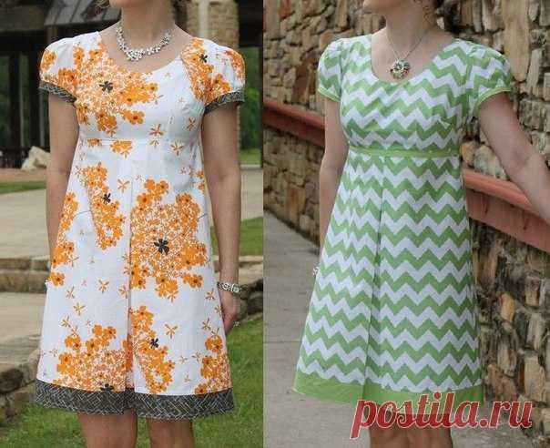 Dress pattern, size of Euro 36-52
