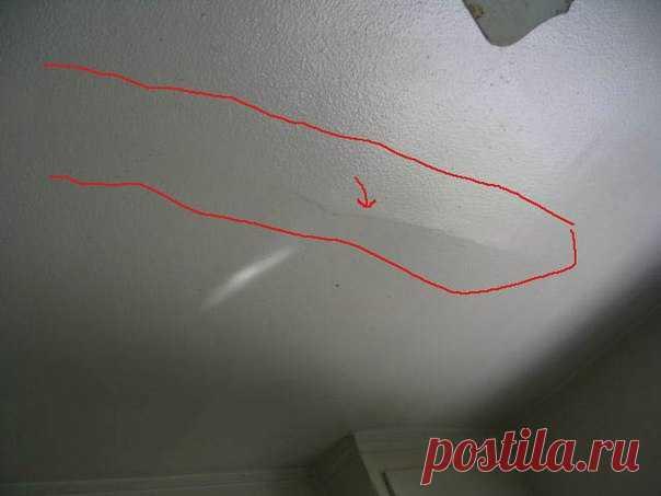 Что делать, если на потолке пошла трещина ?