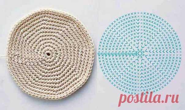 Как вязать круг и овал