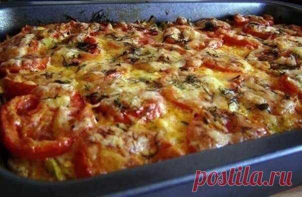 Как приготовить запеканка из кабачков с фаршем и помидорами - рецепт, ингредиенты и фотографии