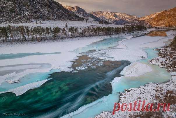 Утро на реке Катунь, Горный Алтай. Автор фото – Светлана Казина: nat-geo.ru/photo/user/30896/