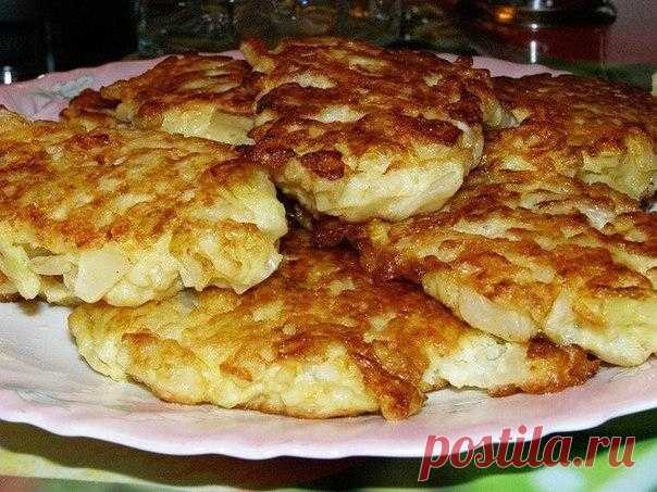 How to make cabbage fritters on kefir - the recipe, ingredients and photos