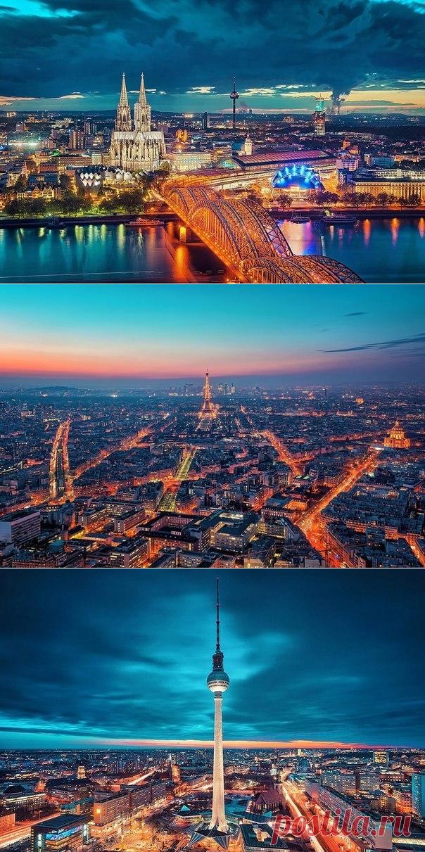 Los paisajes brillantes de las ciudades de tarde de Mattiasa del Hacker - Viajamos juntos
