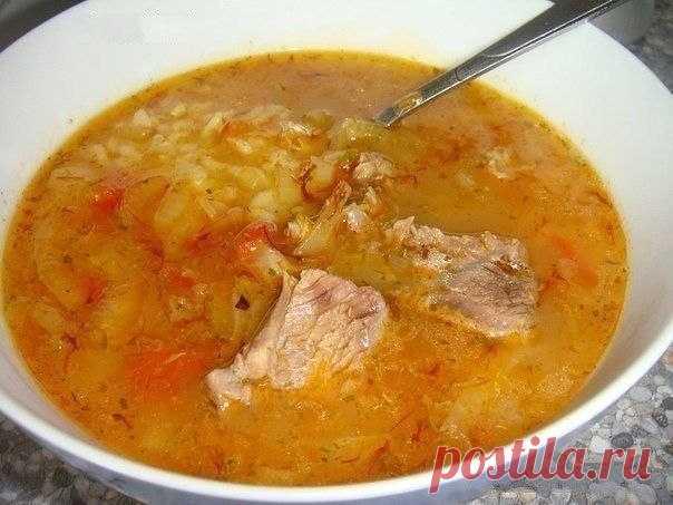 Dense Georgian soup of Kharcho